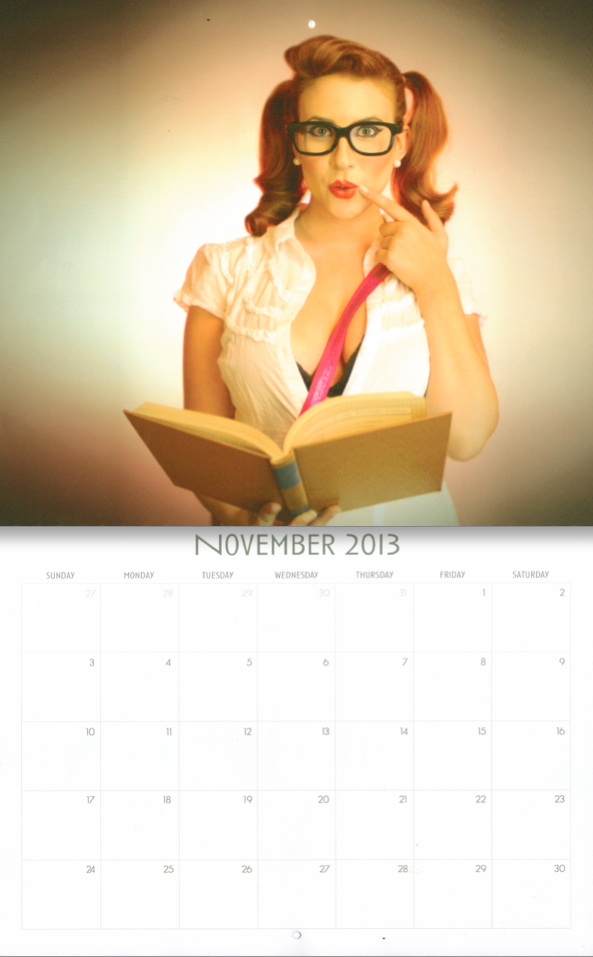 Alexis Nichols: 2013 European Pinup Breast Cancer Awareness Calendar